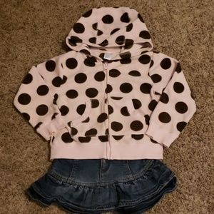 2-pc: Gymboree Hoodie and Place Skirt